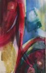 """Dainis Gudovskis, Latvia. """"Colours 1-5"""" (five pieces series) 2003. Water colour, 79x100cm"""