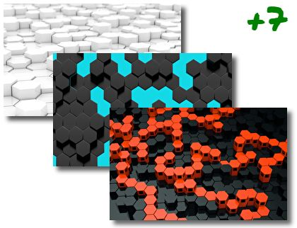 Hexagon theme pack