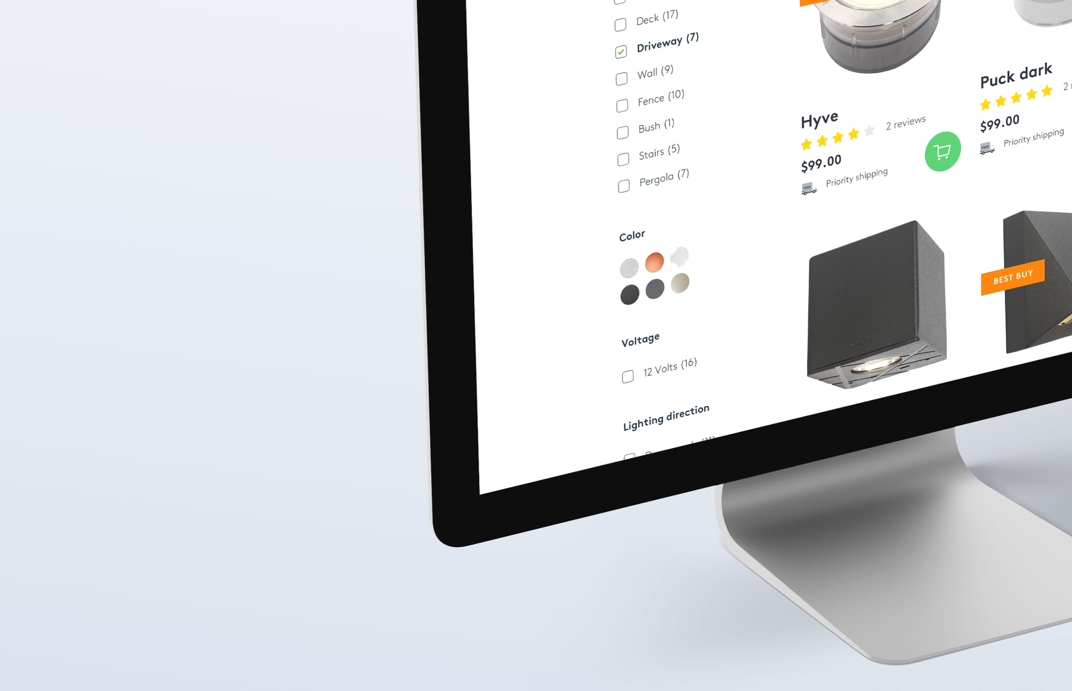 In-Sider product overzicht pagina met filters in Shopify