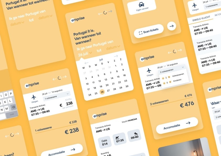 Emprise — A travel app focused on booking affordable accomodation.