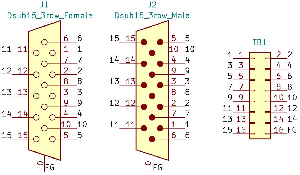 DE15MF-TB2X8の回路図