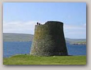 Mousa Iron Age Broch. Copyright Shetland Geotours  » Click to zoom ->