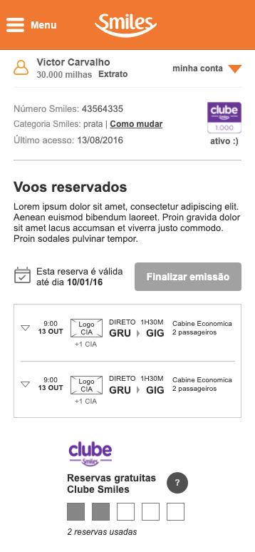 Imagem do wireframe mobile da área administrativa do usuário