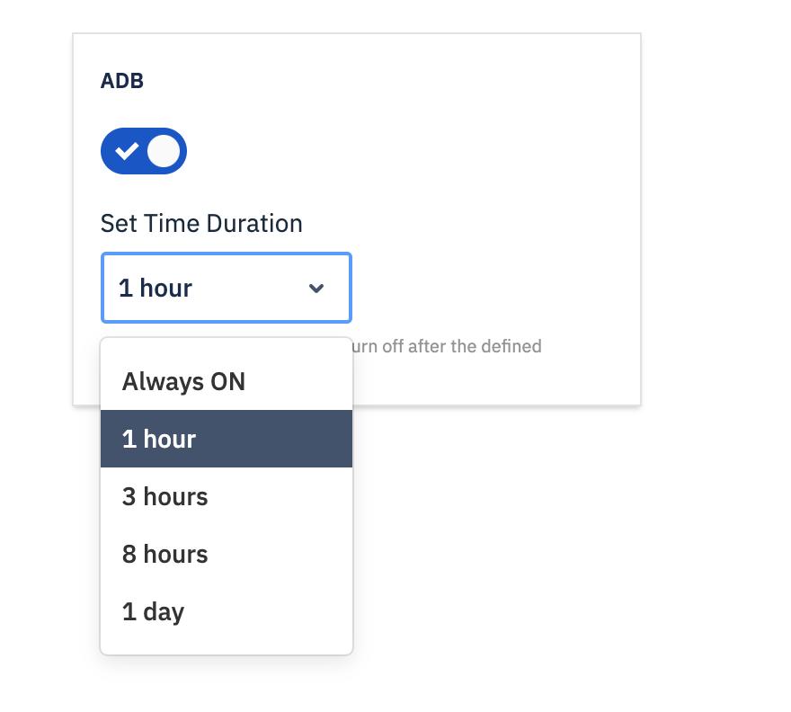 ADB Duration