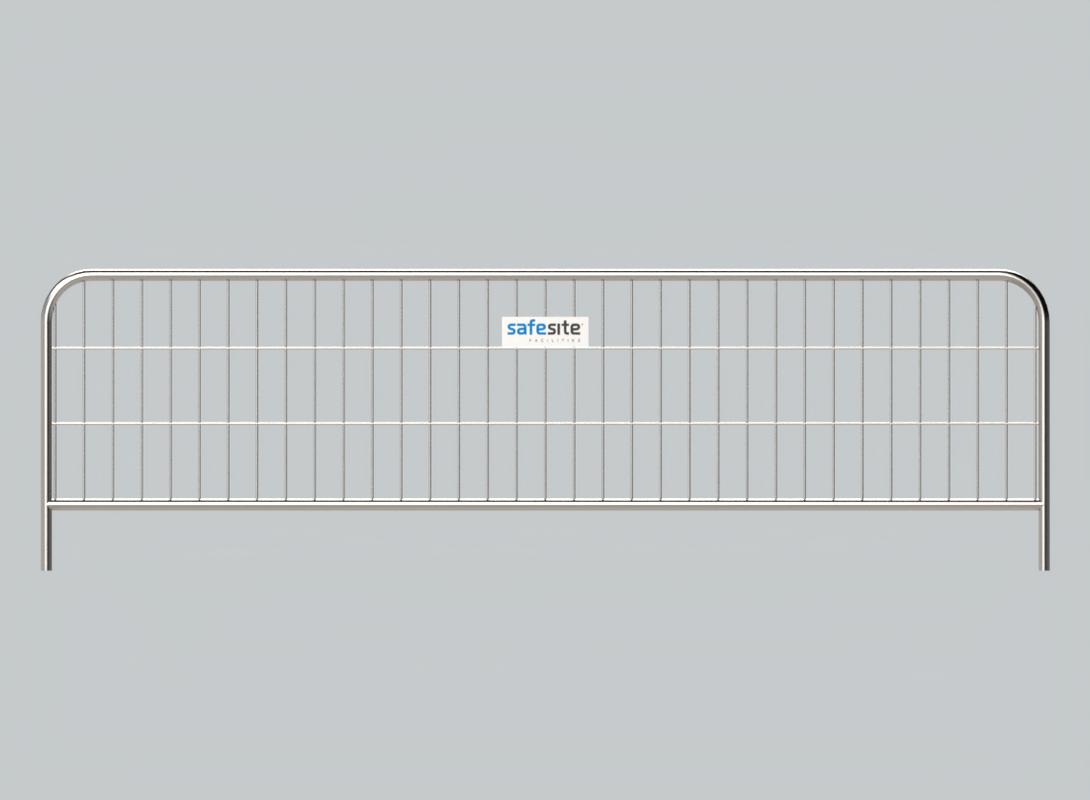 3.5m Metal Pedestrian Barrier Front