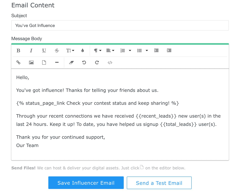 Influencer Mail