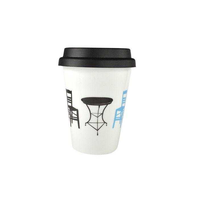 Kaffeetasse Kafenio zum Mitnehmen aus Porzellan - 275ml