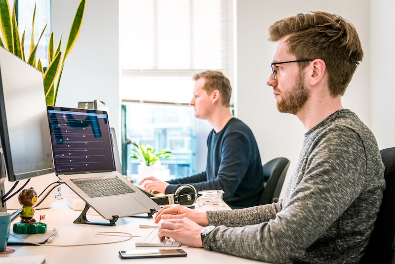 Developers working
