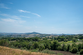 This is the view *from* San Marino into the Italian countryside.  Borgo Maggiore, San Marino, 2017