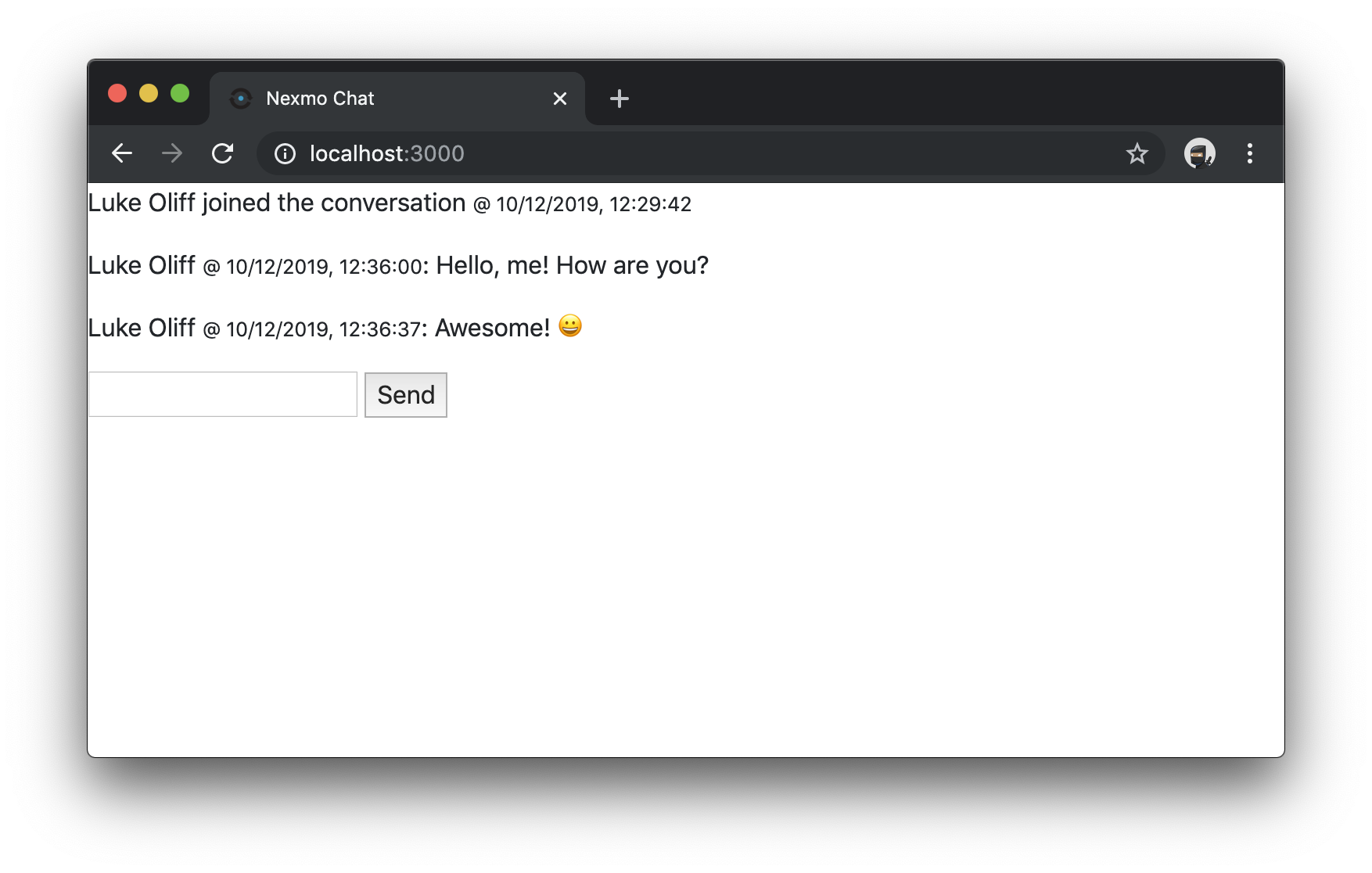 Styled the working Chat application with Bootstrap