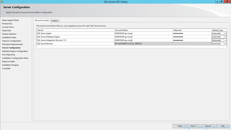 SQL Server 2012 SP1 - Server Configuration