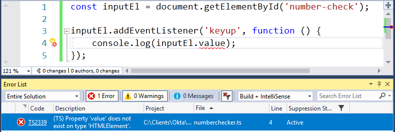 TypeScript Error