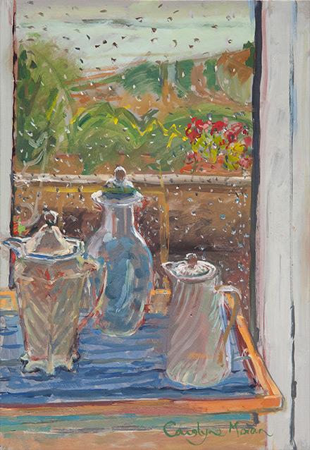 Three Pots gouache painting