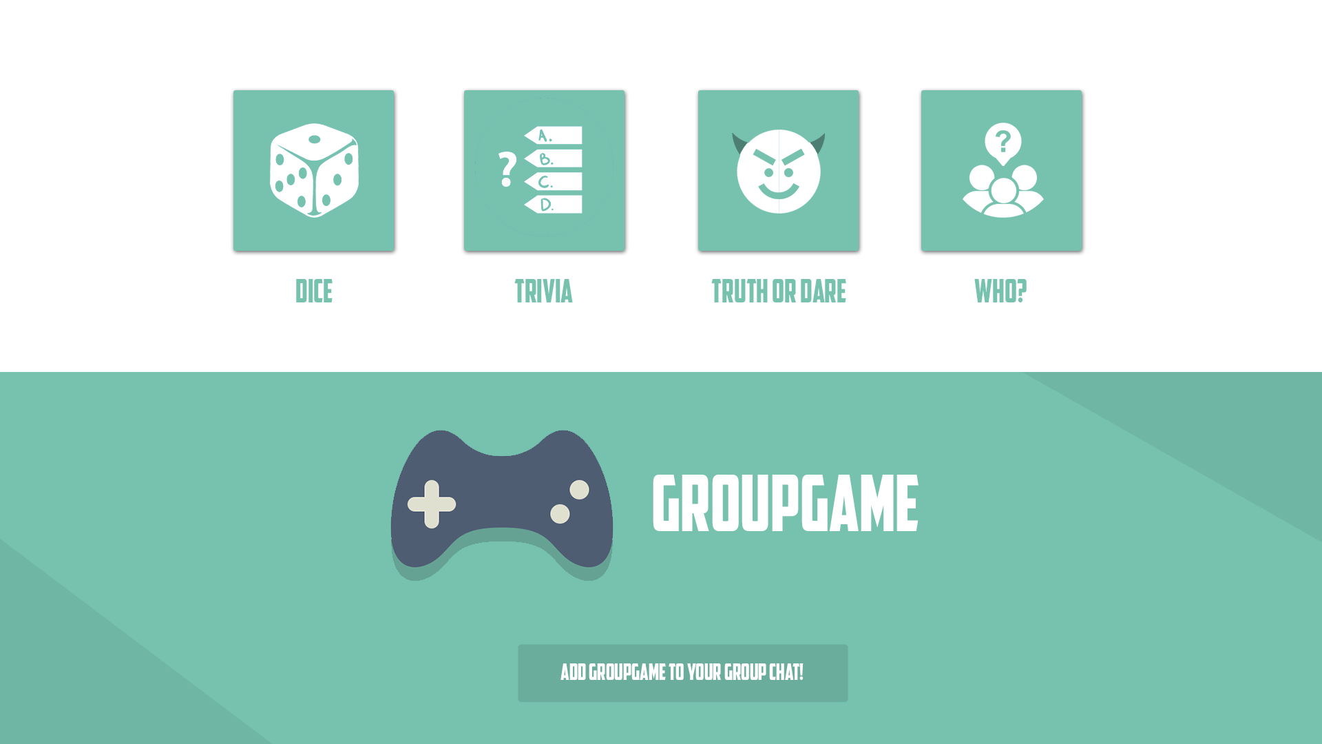 GroupGame bot for KIK Messenger