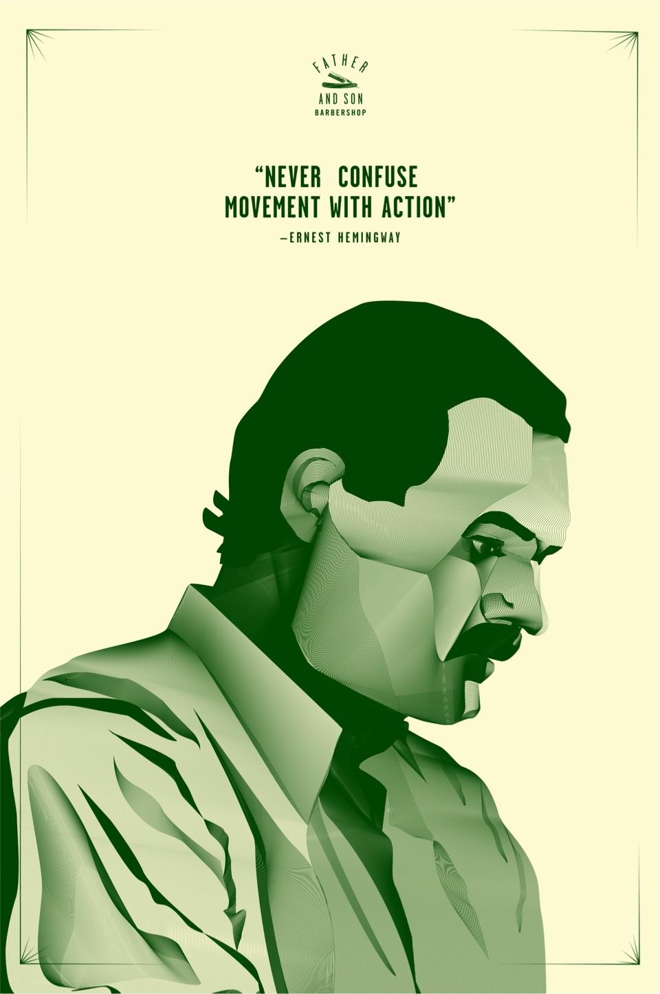 Ernest Hemingway Poster Concept
