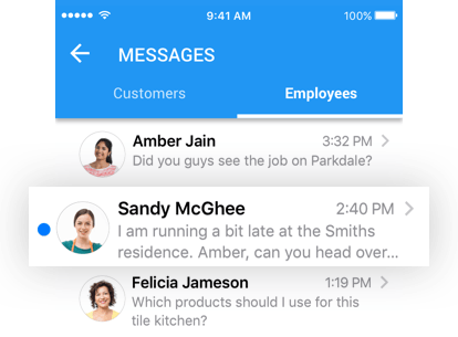 Real-time dispatching of text notifications