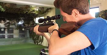 Air rifle shooting at Potters Resort