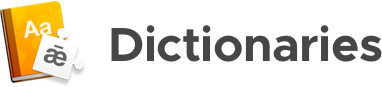 dictionaries logo + wordmark