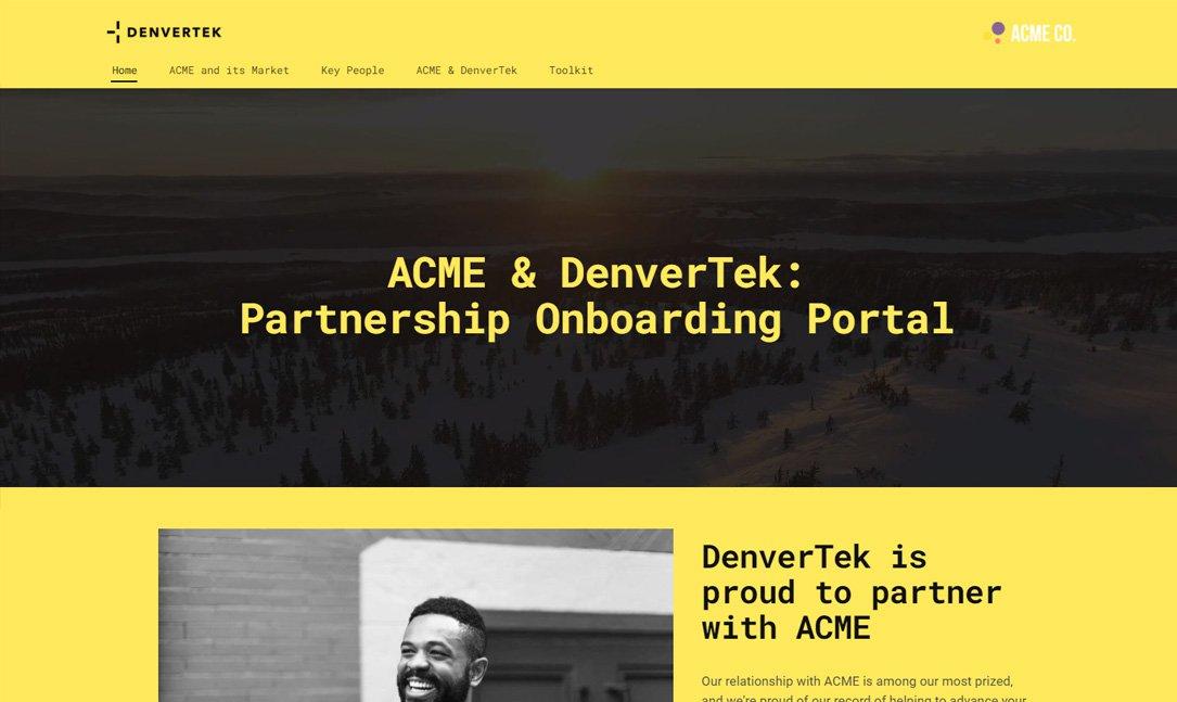 Account onboarding portal