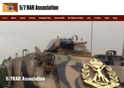 5/7 RAR Website Screenshot