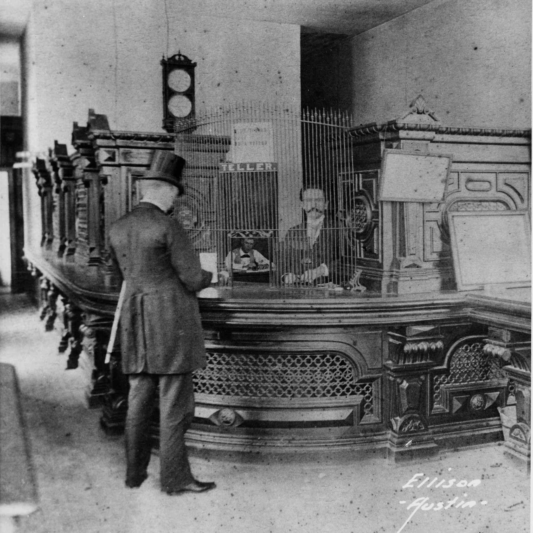 Уильям Сидни Портер (О. Генри) на работе в банке в 1892 году. Источник: wikipedia.org