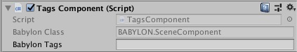 Object Component Tags