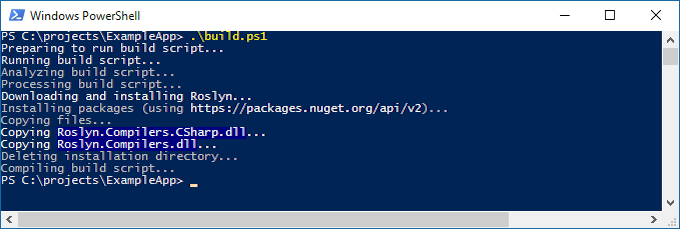 Screenshot Powershell