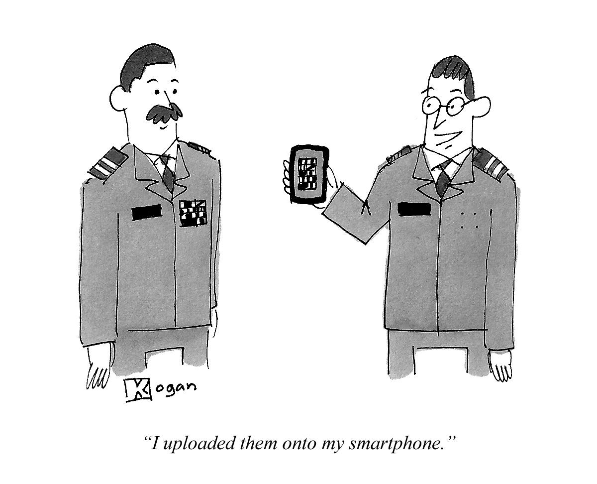 I uploaded them onto my smartphone.