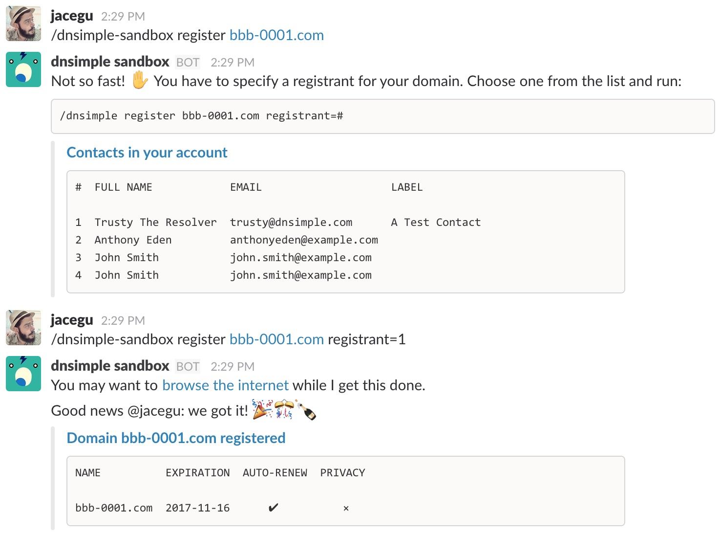 Final register command