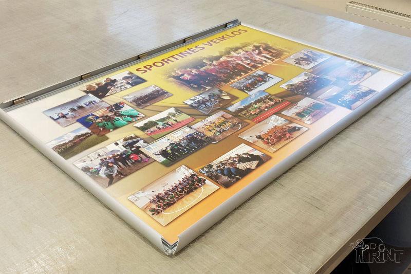 Plakatų su aliuminiu klik rėmeliu pavyzdžiai