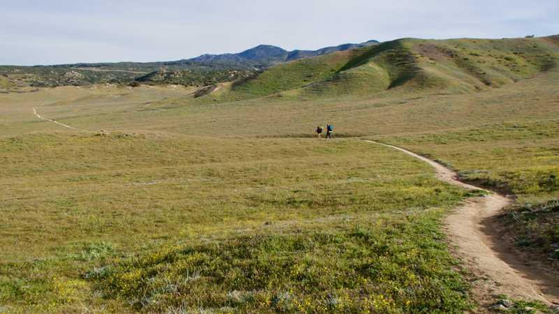Wide plain of Warners Ranch