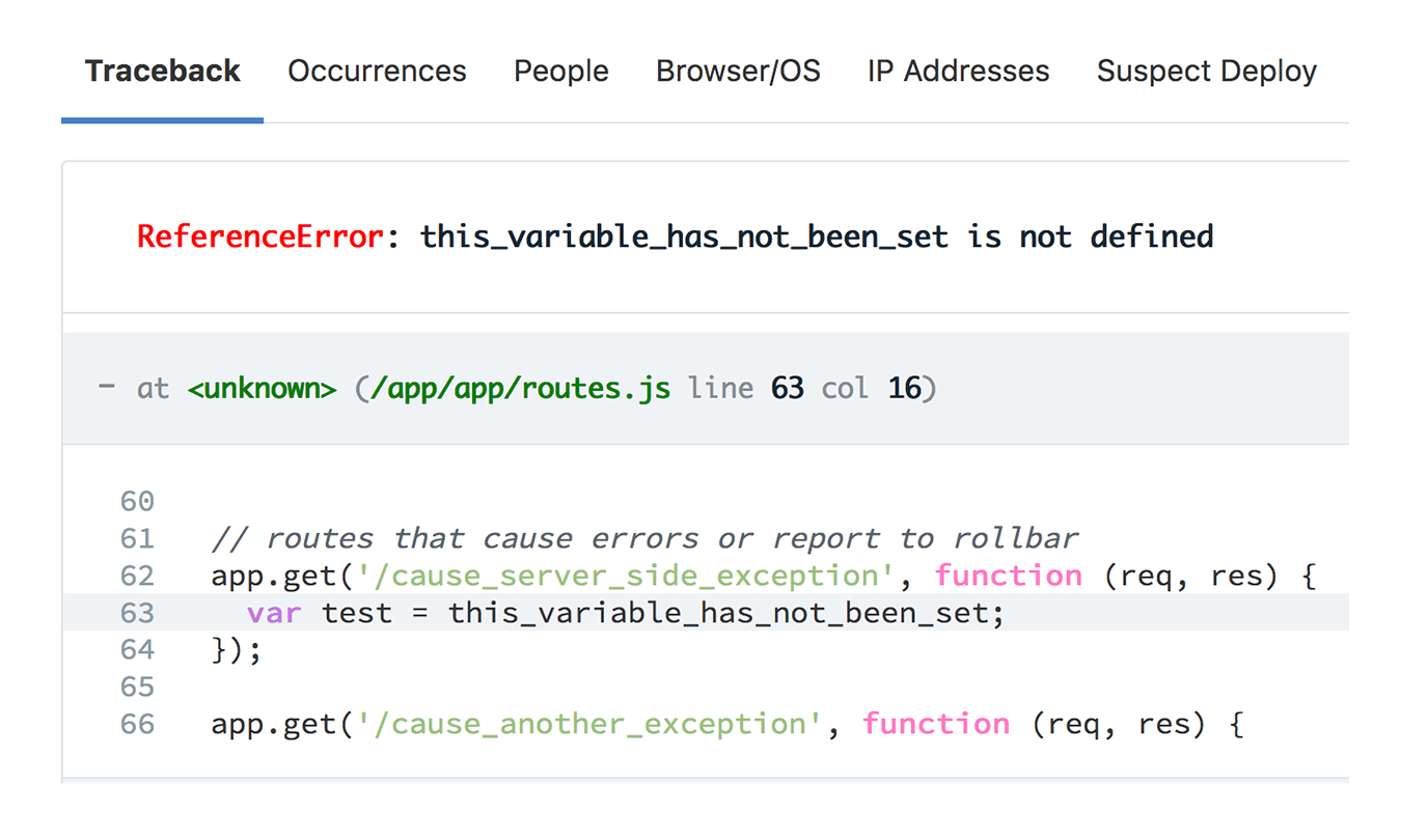 browser error monitoring