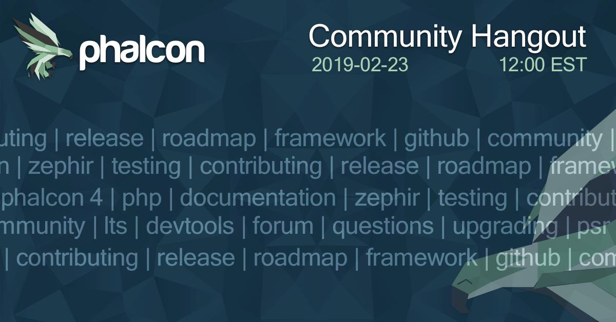 Community Hangout - 2019-02-23