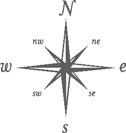 Logo of an old compass rose