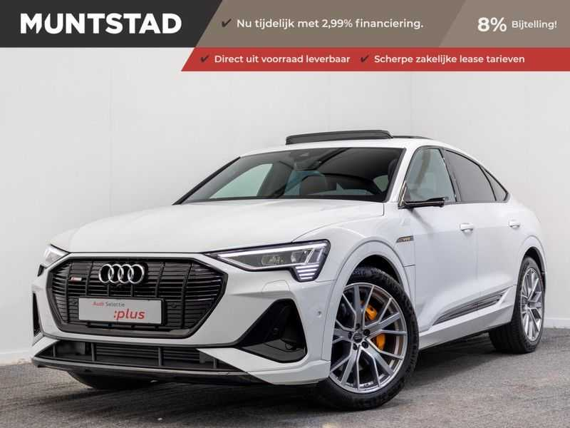 Audi e-tron Sportback 50 quattro S edition | Incl. BTW | Assistentiepakket Tour | B&O Prem. Audio | 360 graden camera | Matrix LED | Optiek Zwart |