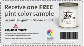 Free Pint of Benjamin Moore Paint
