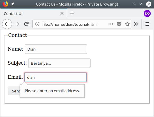 Form contact error