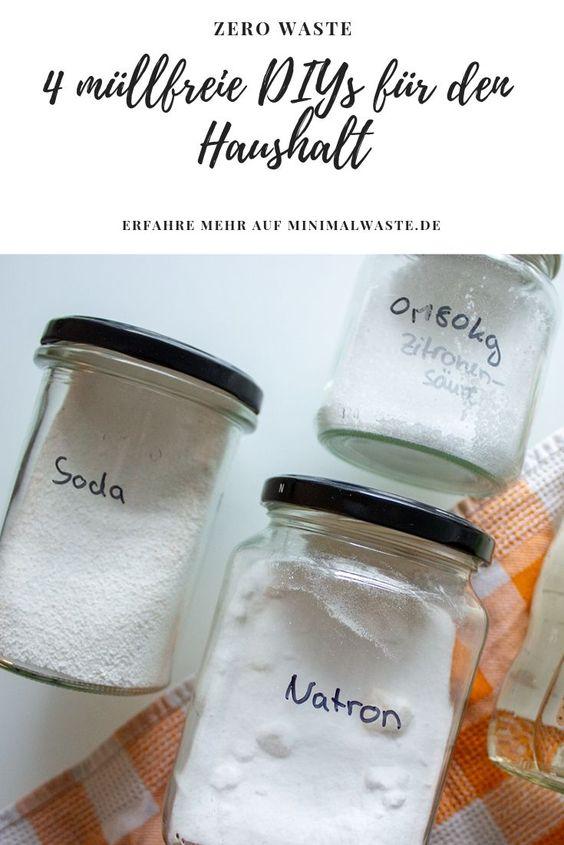 Pinterest Cover zu '4 müllfreie DIYs für einen sauberen Haushalt'