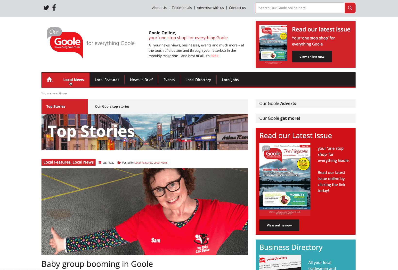 Screenshot of the CreateTVT website