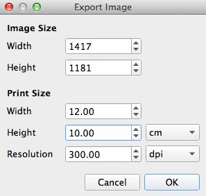 Image export dialog