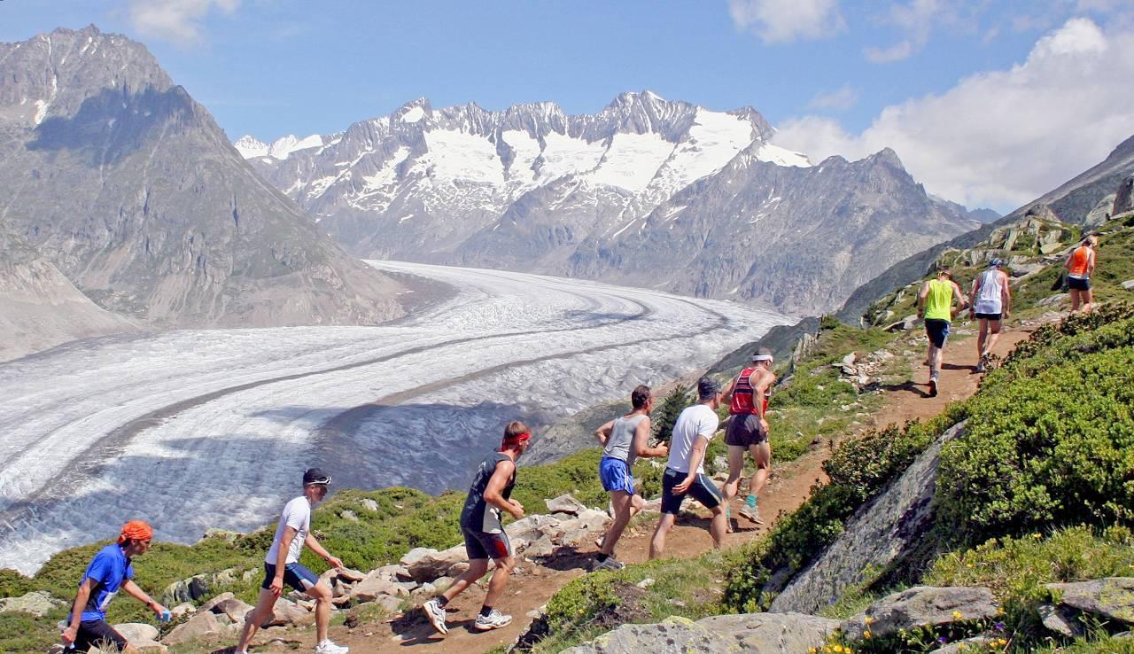 Aletsch Half-marathon view