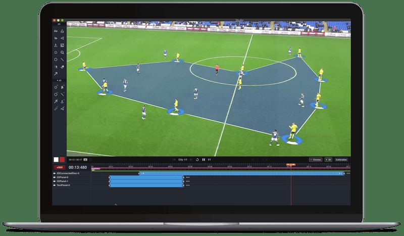 Watching football match video footage on an iPad