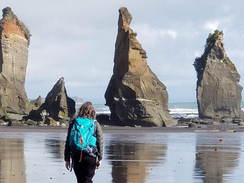 Low tide allows us to visit the sisters up close and personal