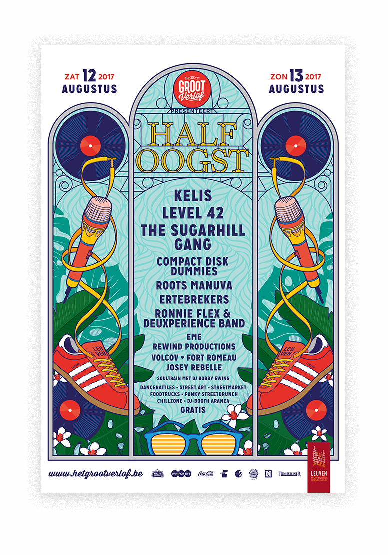 Bert Deckers Creative Half Oogst poster