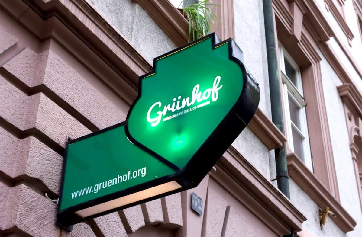 The sign outside The Grünhof
