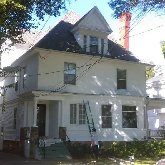 dark blue painted home