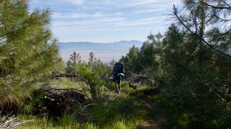 Leaving Horse Trail Camp