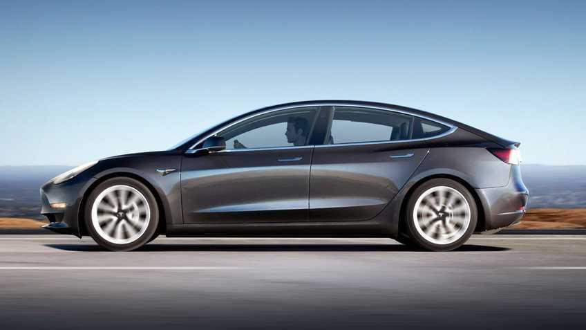 """Tesla Model 3 Long Range EX BTW 4% 19""""LM Grijs Zwart afbeelding 1"""