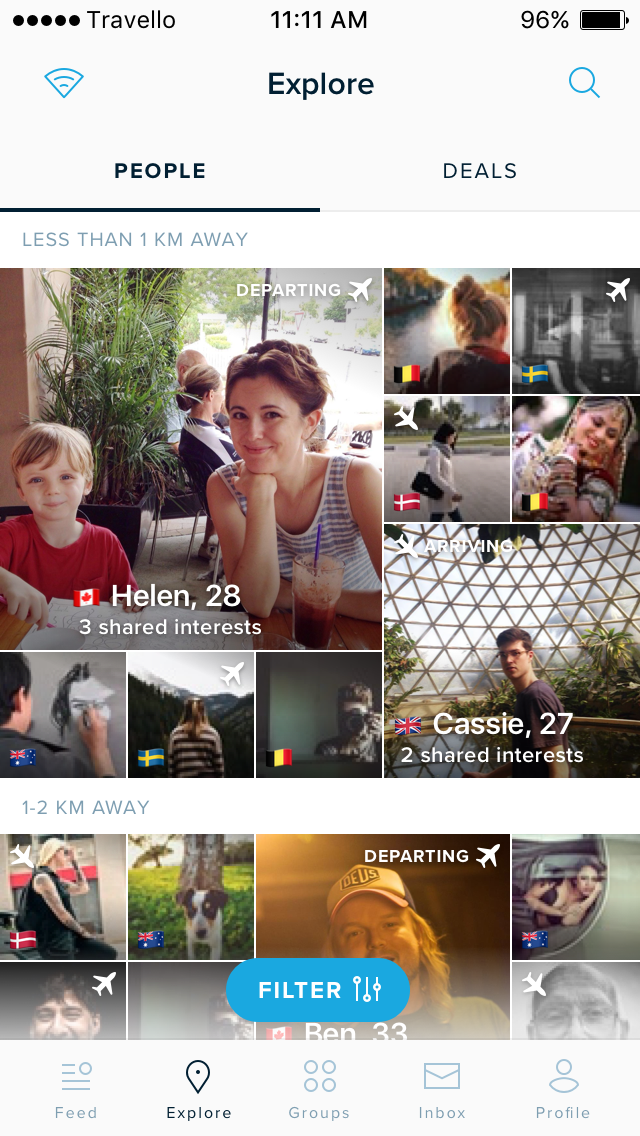 Travello – Nomad Social Network - Explore