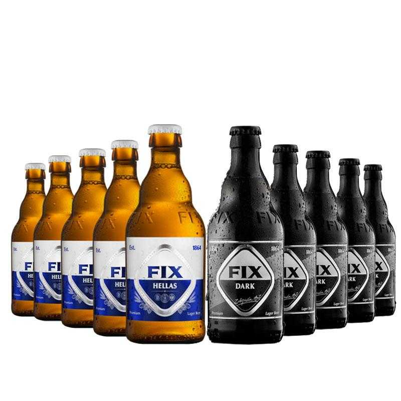 6-beers-fix-lager-330ml-6-fix-dark-olympic-brewery